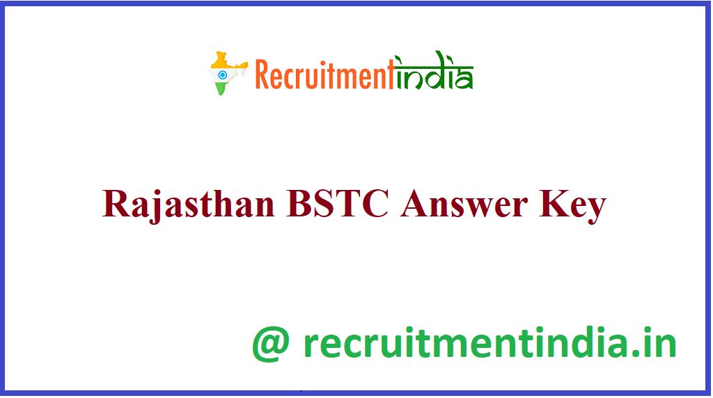 Rajasthan BSTC Answer Key