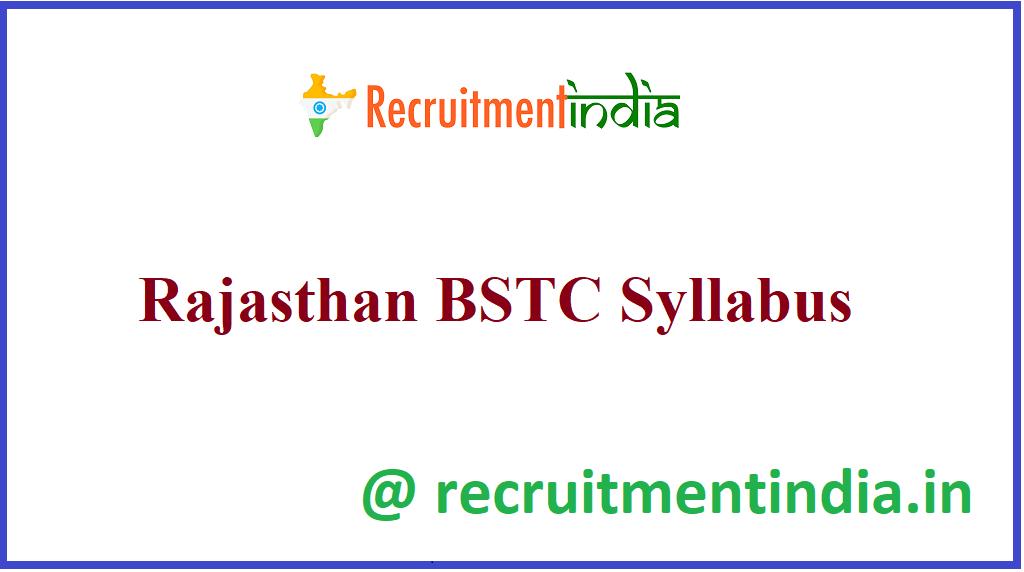 Rajasthan BSTC Syllabus