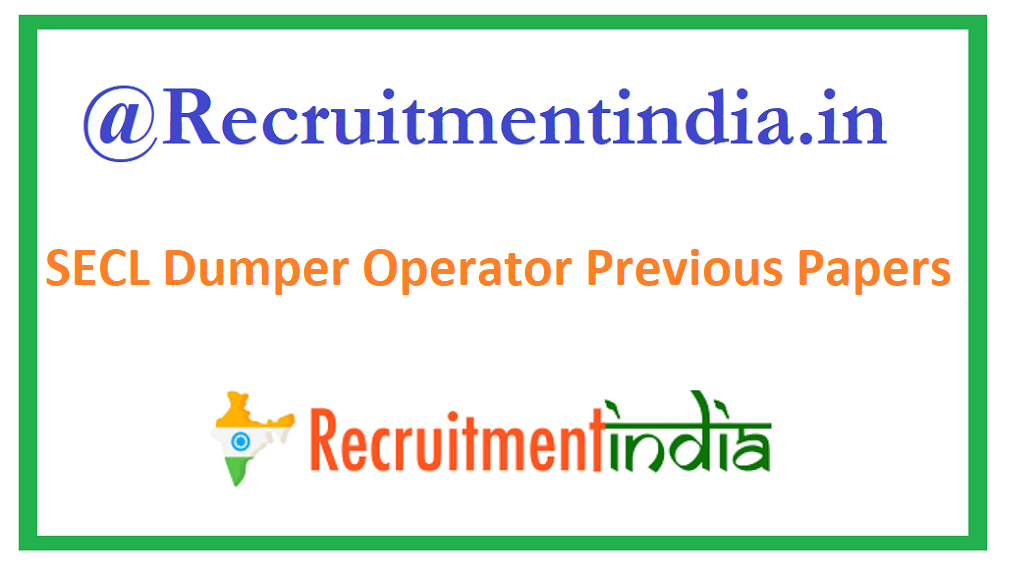 SECL Dumper Operator Previous Papers