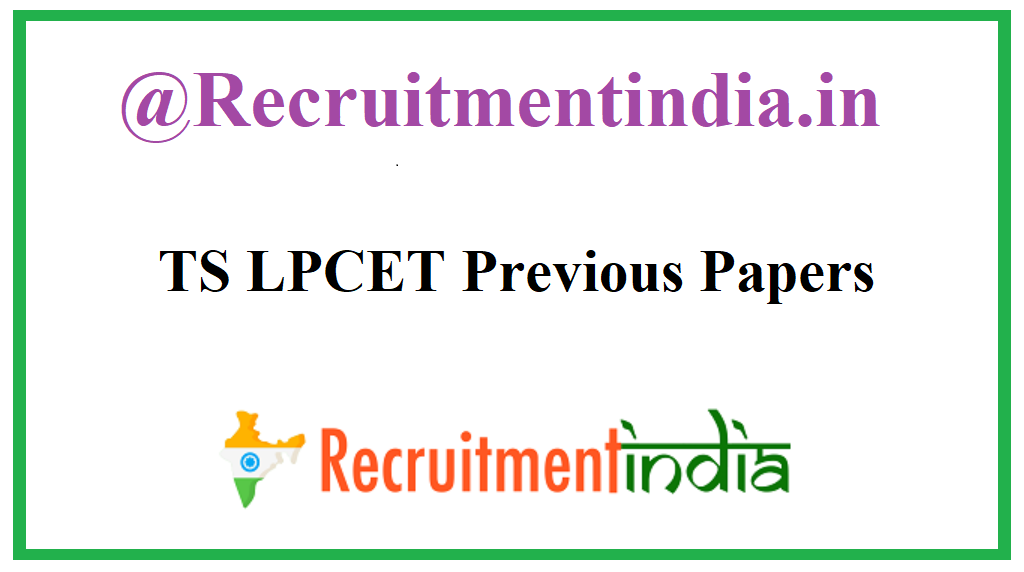 TS LPCET Previous Papers