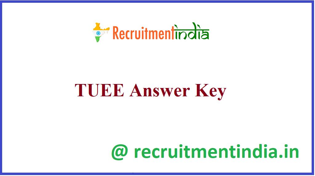 TUEE Answer Key