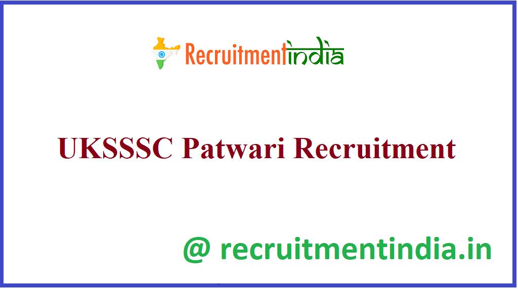 UKSSSC Patwari Recruitment