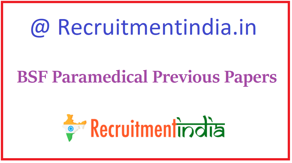 BSF Paramedical Previous Papers
