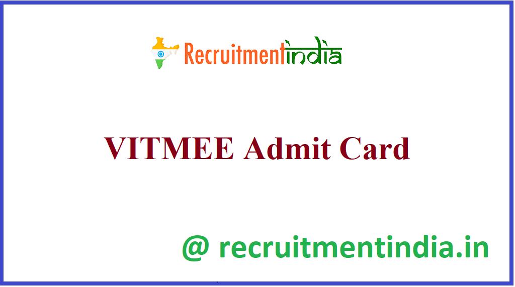 VITMEE Admit Card