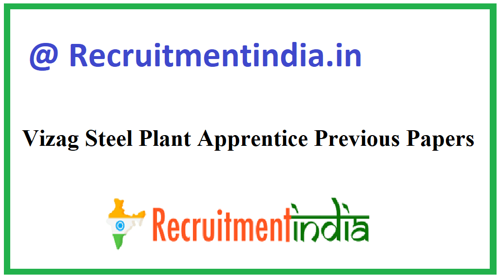 Vizag Steel Plant Apprentice Previous Papers