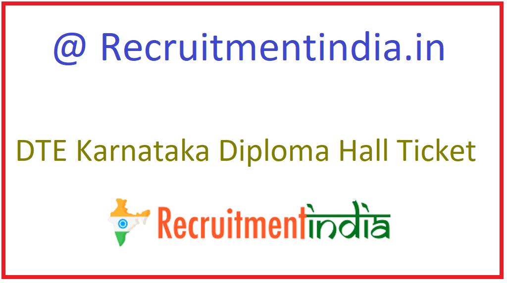 DTE Karnataka Diploma Hall Ticket