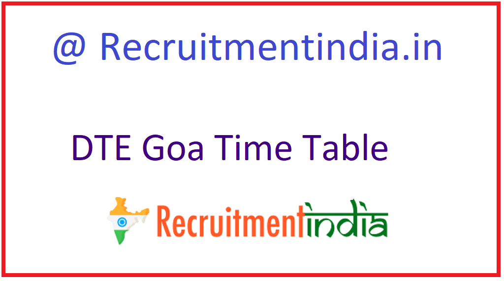 DTE Goa Time Table