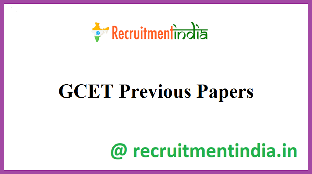 GCET Previous Papers
