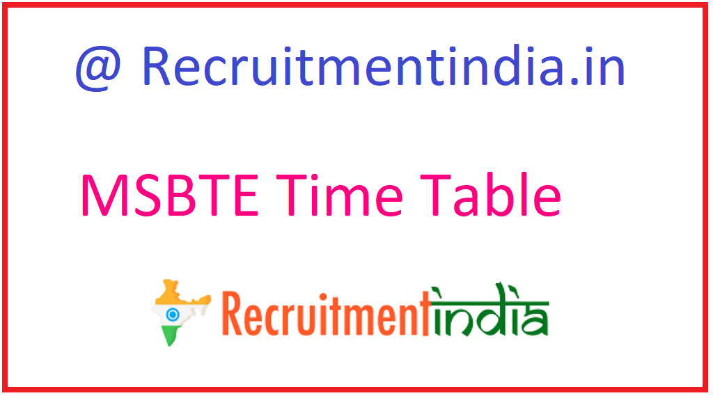MSBTE Time Table