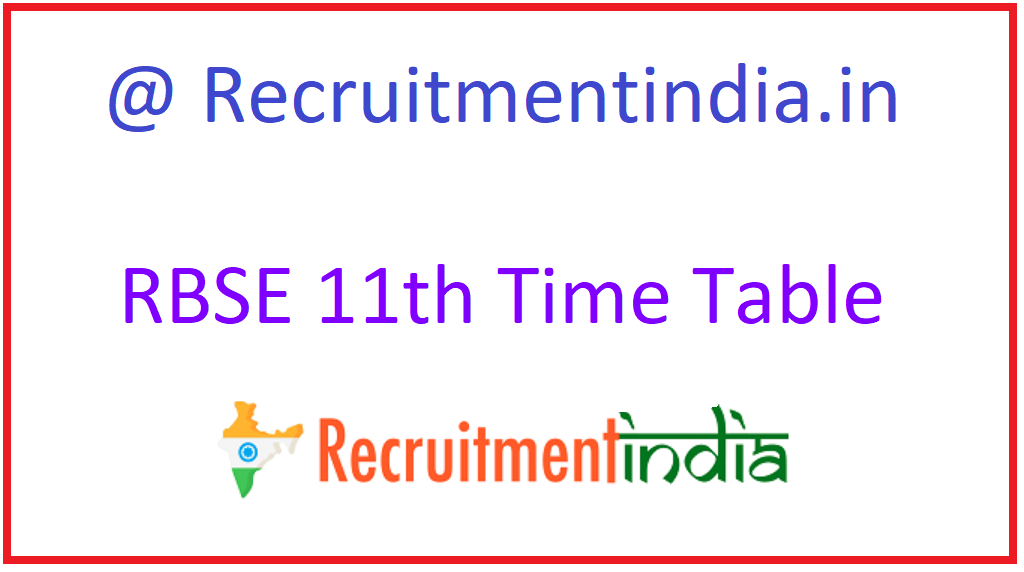 RBSE 11th Time Table