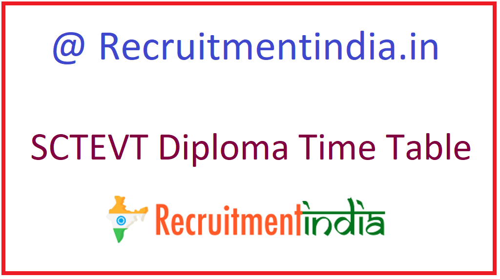 SCTEVT Diploma Time Table