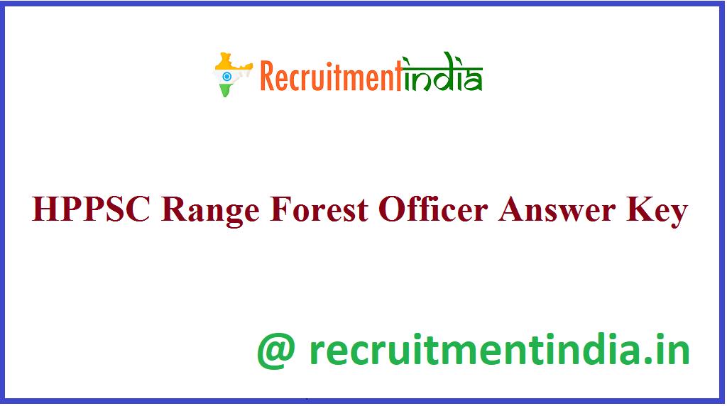 HPPSC Range Forest Officer Answer Key