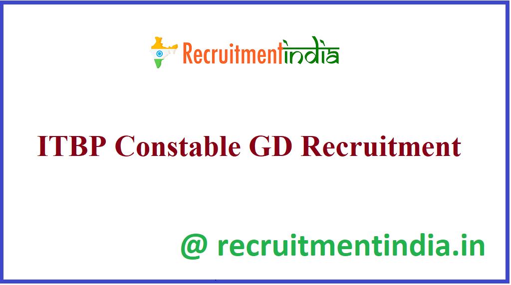 ITBP Constable GD Recruitment
