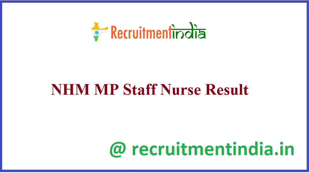 NHM MP Staff Nurse Result