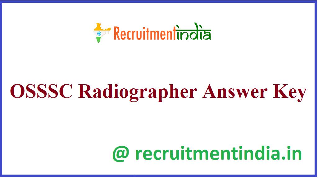 OSSSC Radiographer Answer Key
