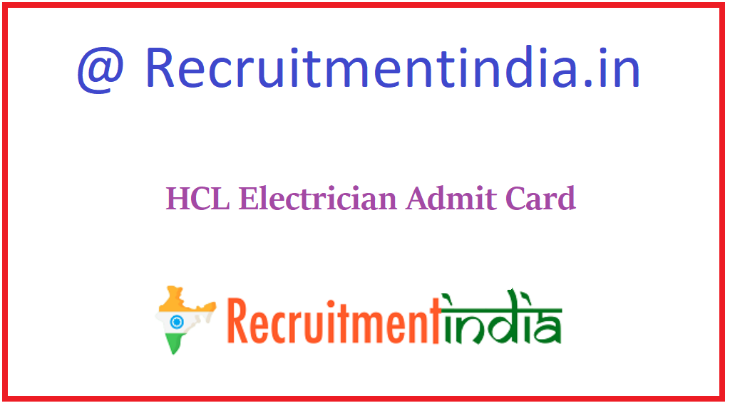 HCL Electrician Admit Card