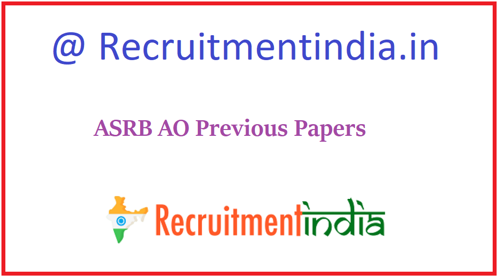 ASRB AO Previous Papers