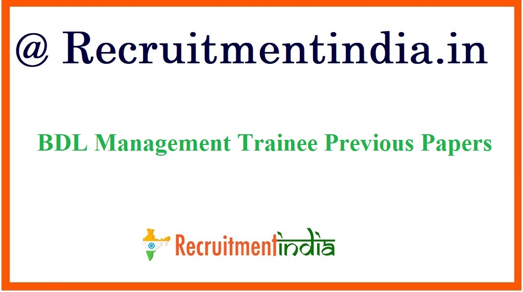 BDL Management Trainee Previous Papers