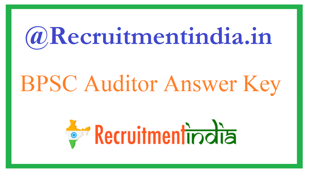 BPSC Auditor Answer Key