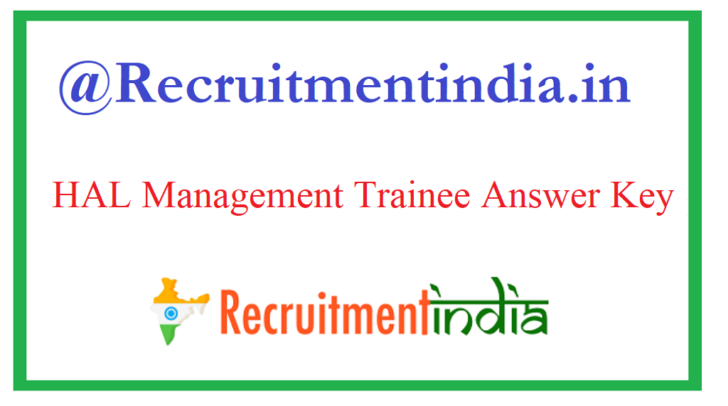 HAL Management Trainee Answer Key