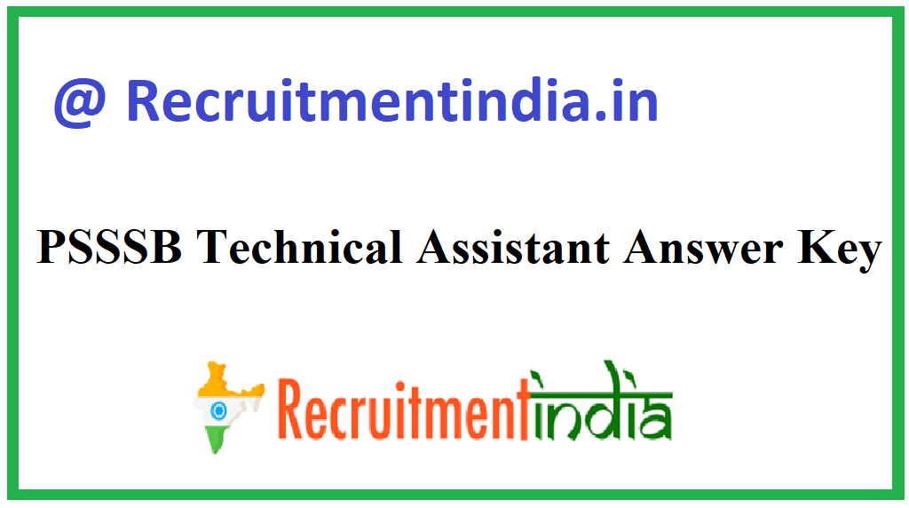 PSSSB Technical Assistant Answer Key