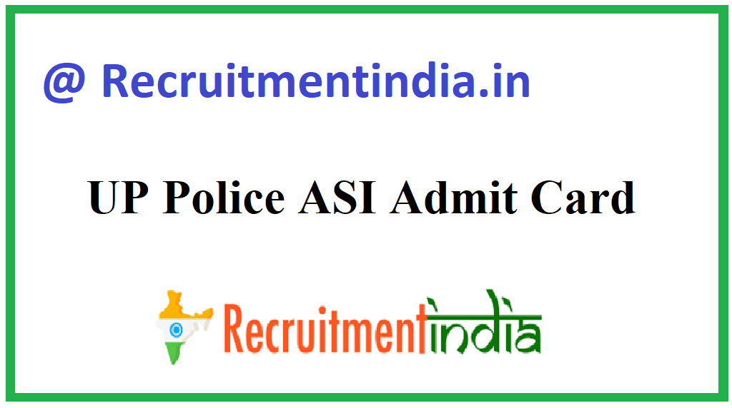 UP Police ASI Admit Card