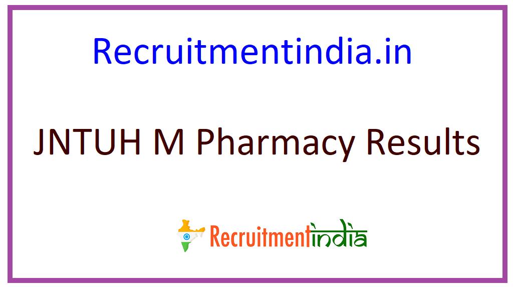 JNTUH M Pharmacy Results