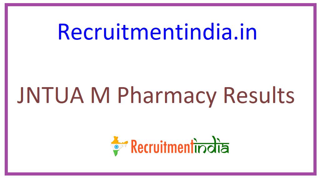 JNTUA M Pharmacy Results